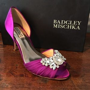 New Badgley Mischka Scarlett d'Orsay Pump in Berry